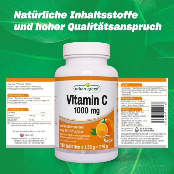 Vitamin C 1000 mg 180 Tabletten