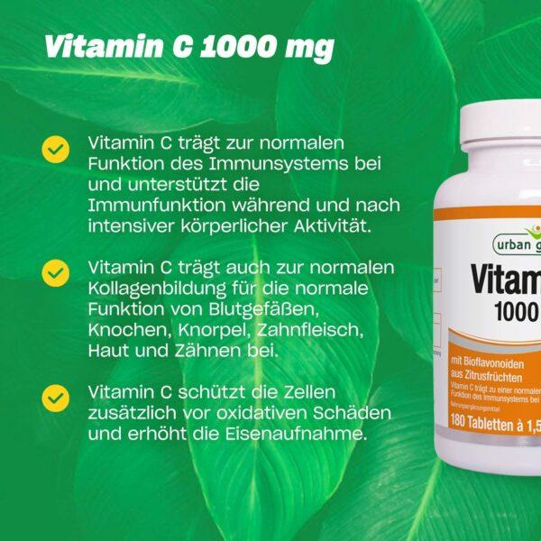 Vitamin C 1000 mg 180 Tabletten