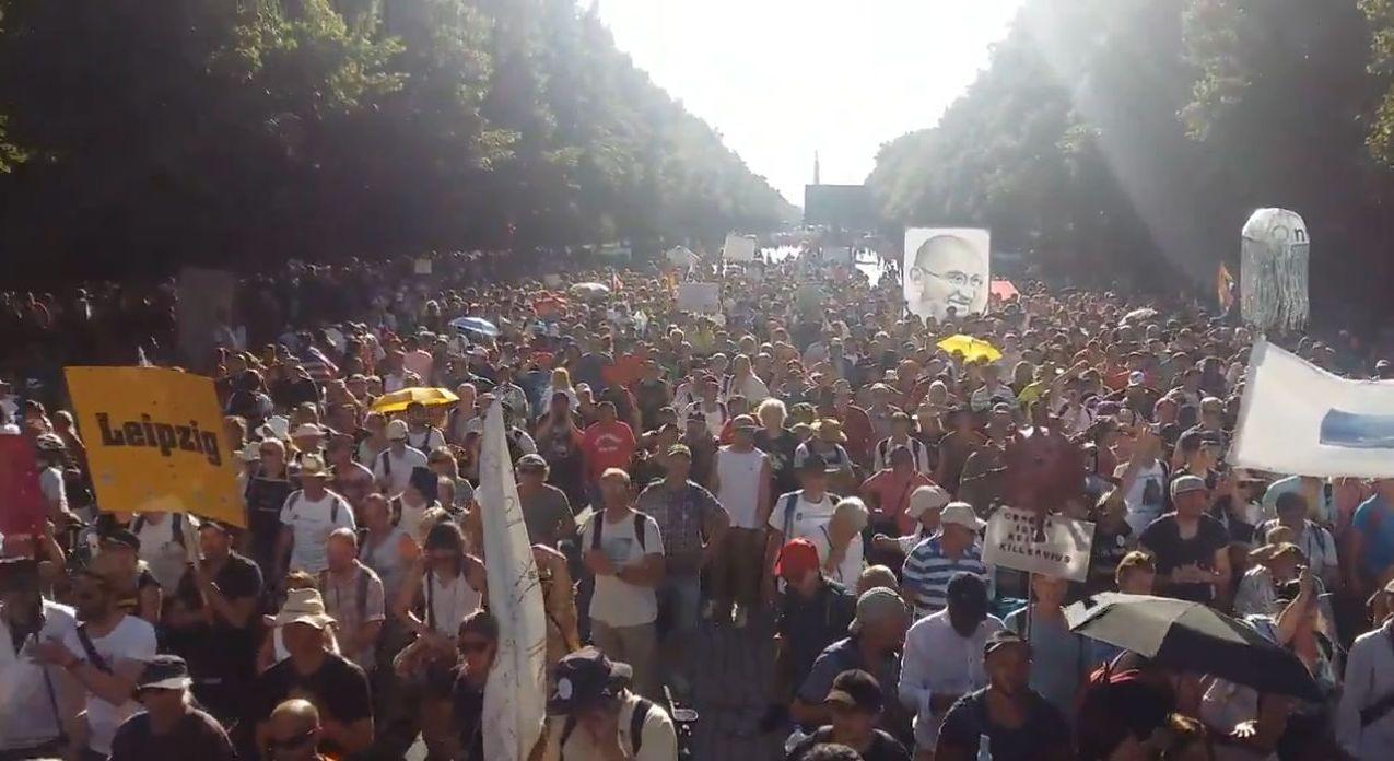 Corona-Demo in Berlin am 1. August 2020