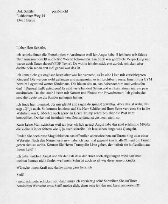 Osoba, która znalazła pendrive, na którym znajdowały się dokumenty, napisała do niezależnego dziennikarza i blogera Dirka Schäfera, aby zgłosić dokumenty i temat na swojej stronie internetowej.