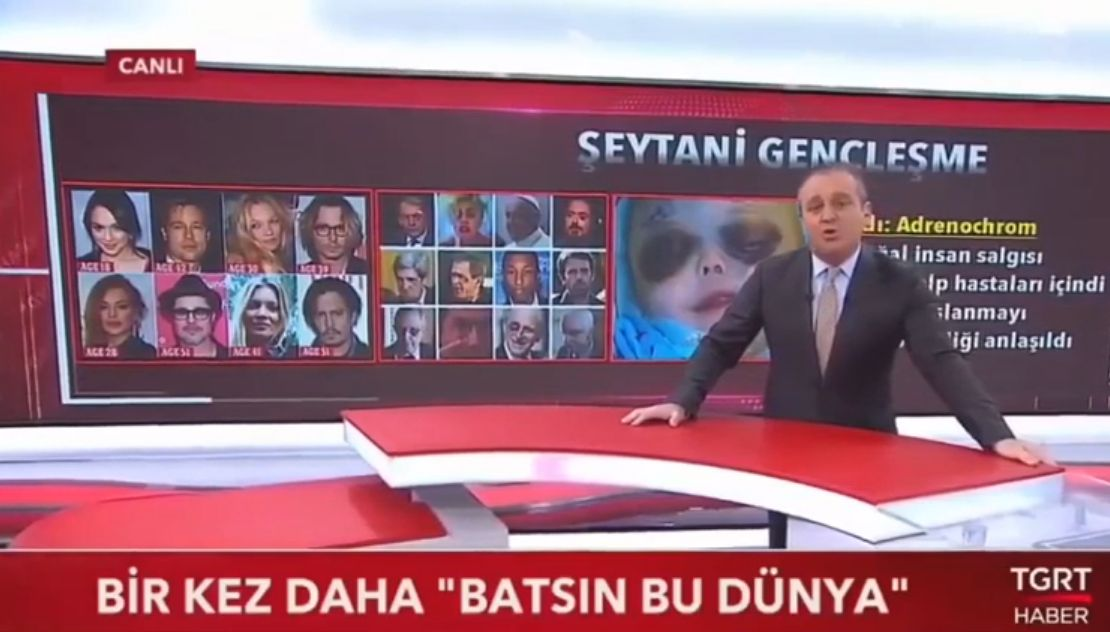 Türkisches Fernsehen über Adrenochrom